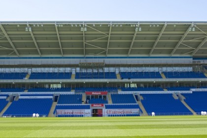 Cardiff City FC Gantry